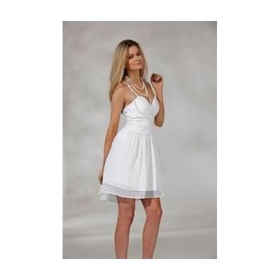 Biała sukienka na cienkich ramiączkach - halens