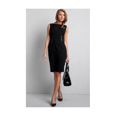 5eca6caf93fbad Czarna, efektowna sukienka bez rękawów - South