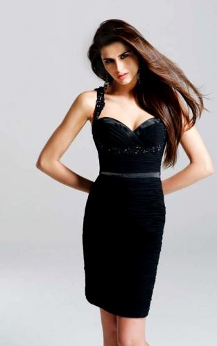 черные вечерние платья фото короткие
