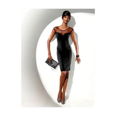 cbf04fe63b Mała czarna sukienka wieczorowa z rozcięciem z tyłu PRIVÉ