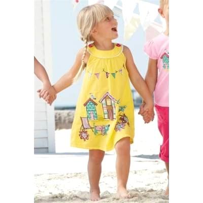 ae84beb0242a73 Sukienka dla dziewczynki, żółta, z bajkowym nadrukiem - NEXT