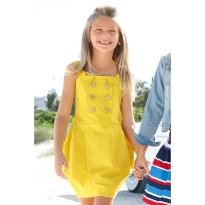 010e50cc635d1c Sukienka dziecięca, żółta, na ramiączkach - NEXT