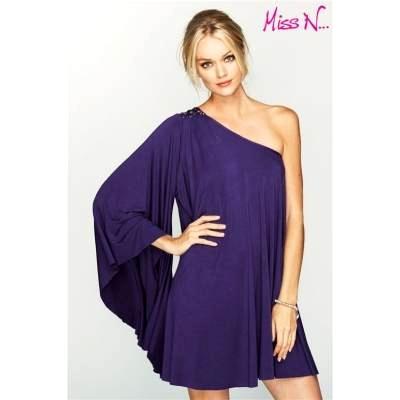 4aa8885be1e50e Sukienka mini, z jednym szerokim rękawem - NEXT