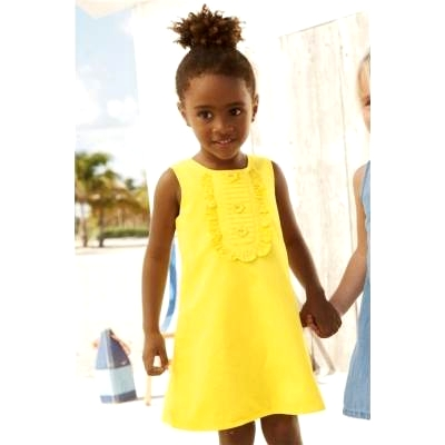 60ae6fdc044a99 Żółta sukienka dla dziewczynki, bez rękawów - NEXT